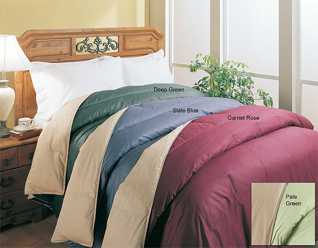 Reversible Feather and Down Comforter