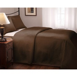 Roxbury Park Quilted King Size Chocolate Coverlet