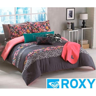 Roxy Samantha Floral 5-piece Comforter Set with Body Pillow and Throw