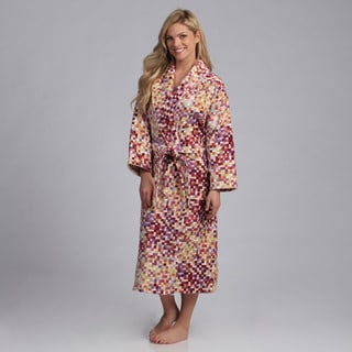 Salbakos Multicolor Printed Velour with Terry Lining Spa Bath Robe