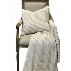 Samson Natural Knitted Throw and Pillow