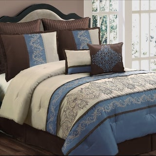 Sandra Blue 8-piece Comforter Set