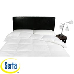 Serta Perfect Sleeper Damask Stripe White Down Alternative Comforter