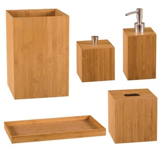Seville Classics 5-piece Bamboo Bath and Vanity Set