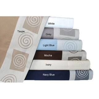 Simple Elegance 400 Thread Count Jacquard Swirl Twin-size Sheet Set