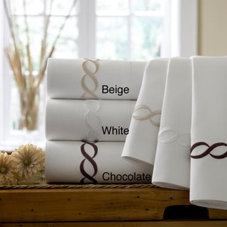 Cable Embroidered Egyptian Cotton Collection 300 Thread Count Sheet Set