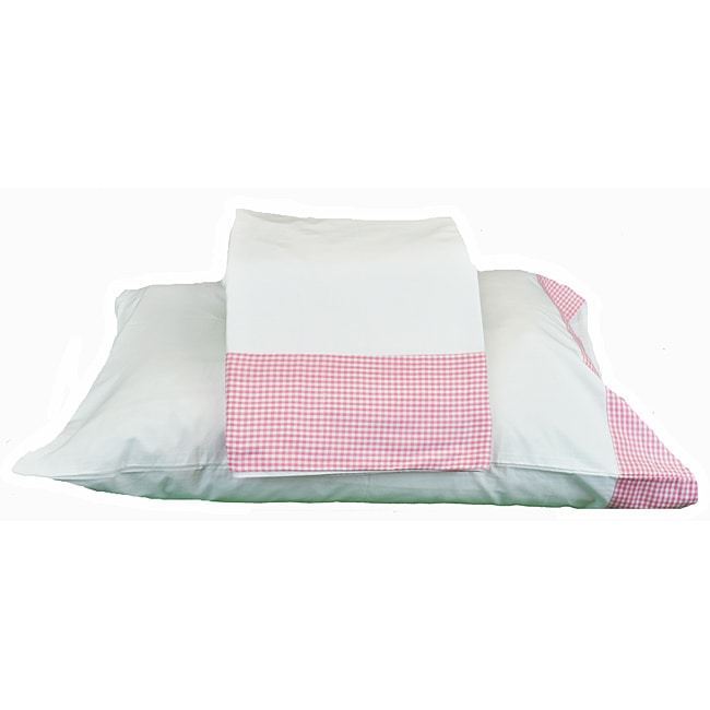 Cottage Home Pink Gingham Twin Sheet Set