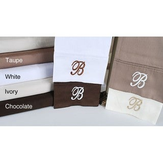 Egyptian Cotton 300 Thread Count Solid Script 'B' Monogram Sheet Set