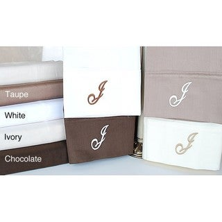 Egyptian Cotton 300 Thread Count Solid Script 'J' Monogram Sheet Set