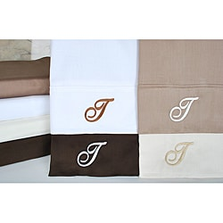 Egyptian Cotton 300 Thread Count Solid Script 'T' Monogram Sheet Set