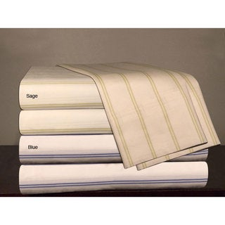 Egyptian Cotton 300 Thread Count Stripe Print Sheet Set