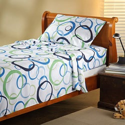 Expressions Microfiber Circle TwinXL Sheet Set
