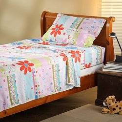 Expressions Microfiber Flower Children's Twin Sheet Set
