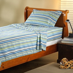 Expressions Microfiber Stripe Children&#39;s Twin XL Sheet Set