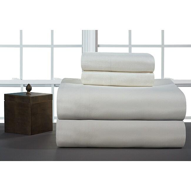 Ivory Heavyweight Flannel Sheet Set