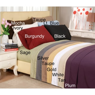 Microfiber Solid Plain 100-percent Wrinkle-free Elasticized Sheet Set