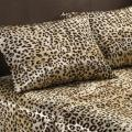 Premier Comfort Cheetah Polyester Textured Satin 6-piece Full-size Sheet Set