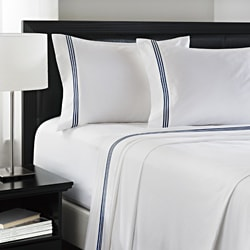 Roxbury Park Navy Baratto Stripe Sheet Set