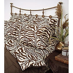 Wildlife Zebra Brown Twin-size Sheet Set