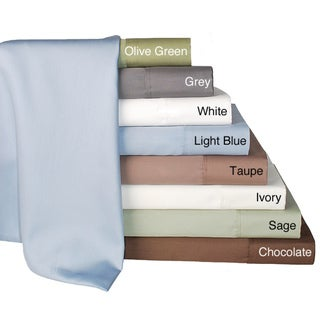 Solid Pima Cotton 630 Thread Count Queen Sheet Set