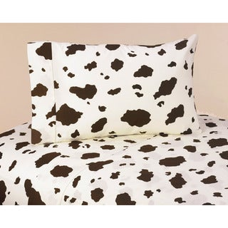 Sweet JoJo Designs 200 Thread Count Western Cowgirl Bedding Collection Cow Print Cotton Sheet Set