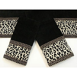 Sherry Kline Cheetah Black 3-piece Decorative Towel Set