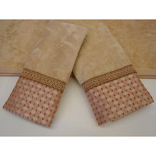 Sherry Kline Chekered Chenille Dots Decorative 3-piece Towel Set