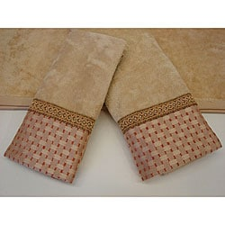 Sherry Kline Chekered Chenille Dots 3-piece Decorative Towels