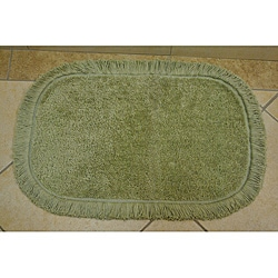 Sherry Kline Sage Green Fringed Bath Rug (Set of 2)