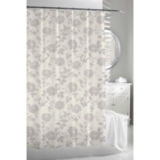 Garden Birds Beige Grey Shower Curtain Overstock Shopping Great Deals O