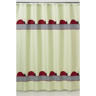 Ladybug Parade Kids Shower Curtain