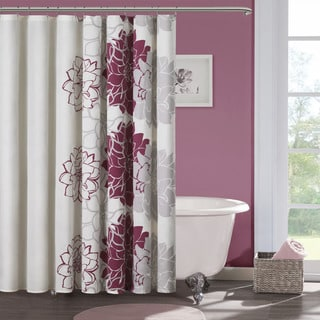 Madison Park Emily Sateen Printed Shower Curtain