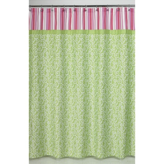 sweet jojo designs olivia pink and green shower curtain