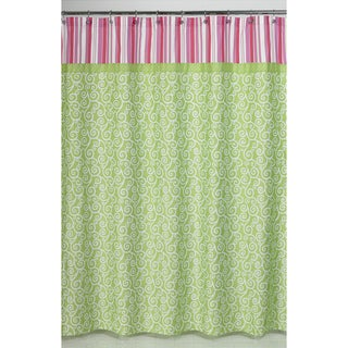 Sweet Jojo Designs Olivia Pink And Green Shower Curtain Overstock Shopping Great Deals On