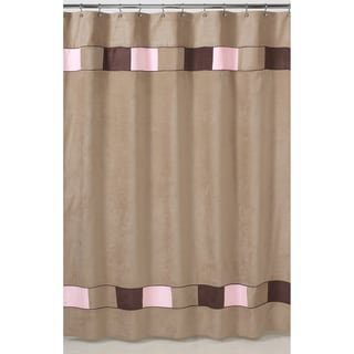 Sweet Jojo Designs Soho Pink and Brown Shower Curtain