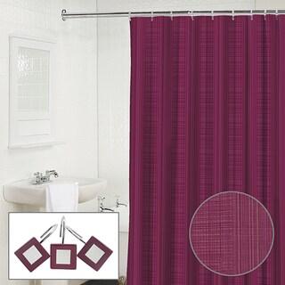 Palais Grommet Top Curtain Panel White Shower Curtain