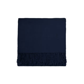 Solid Bamboo 50 x 70 Midnight Blue Throw