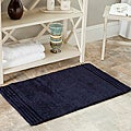 Spa 2400 Gram Plush Navy 21 x 34 Bath Rug (Set of 2)