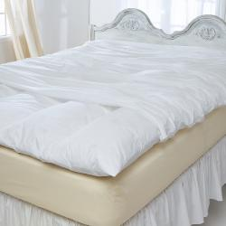 Stain Resistant 230 Thread Count Protective Zip Featherbed Cover