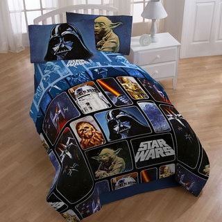 Star Wars Collage 4 Piece Twin Size Bed In A Bag With