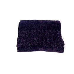 Susan Purple Chenille Luxury Throw