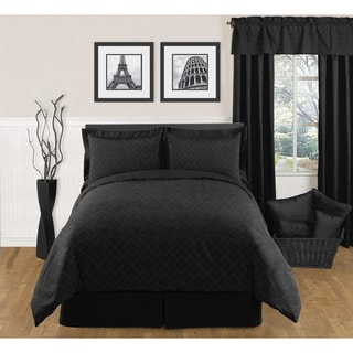 Sweet JoJo Designs Black Diamond 3-piece King-size Bedding Set