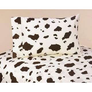 Sweet JoJo Designs 200 Thread Count Wild West Cowboy Bedding Collection Cow Print Sheet Set