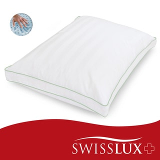 Swiss Lux Dual-comfort Supreme European-Style Memory Foam with Gel Fiber Pillow