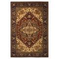 Handmade Heritage Heriz Red/ Navy Wool Rug (4' x 6')
