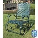 Diamond Lattice Outdoor Rocking Chair