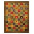Hand-tufted Green Mishra Wool Rug (5' x 8')