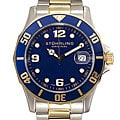Stuhrling Original Clipper Men&#39;s Blue Dial Steel Watch