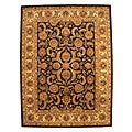 Hand-tufted Black Nikka Wool Rug (9' x 12')