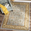 Lyndhurst Floral Motif Greyish Blue/ Ivory Rug (8&#39; x 11&#39;)